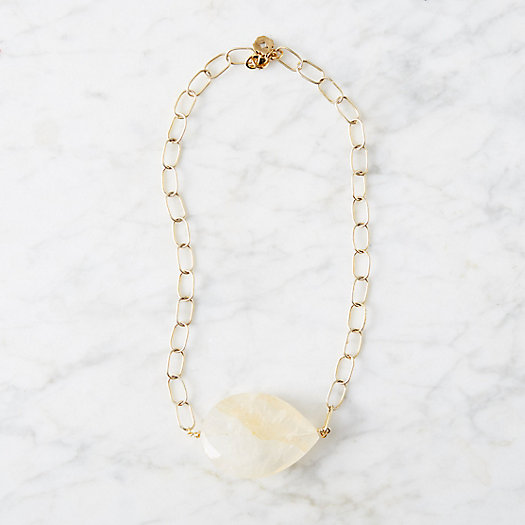Honey Quartz Medallion Necklace