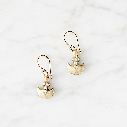 Brass Pendant Earrings
