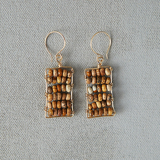 Stone Rows Earrings