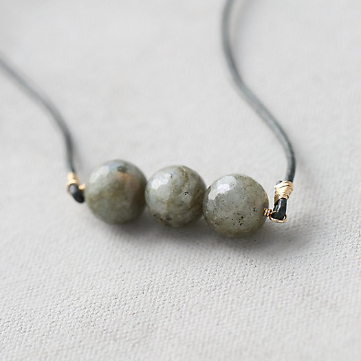 Labradorite & Leather Necklace