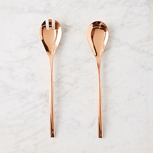Polished Copper Serving Set