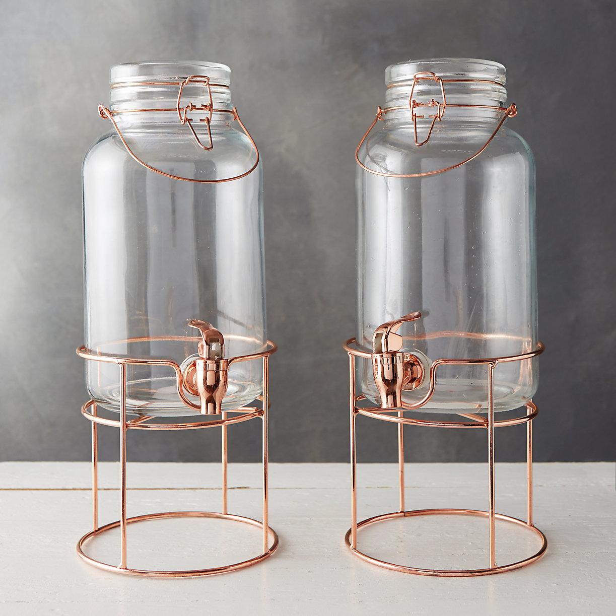 Copper Glass Drink Dispenser Set Terrain