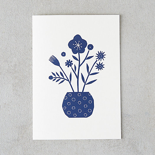Dotted Vase Papercut Card