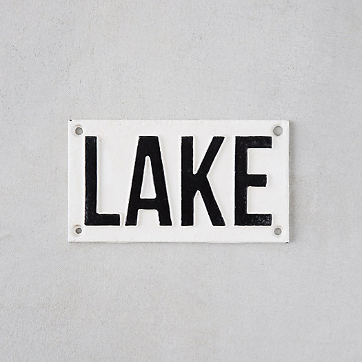 Cast Iron Lake Sign