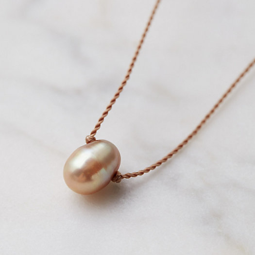 Blushing Pearl Pendant Necklace