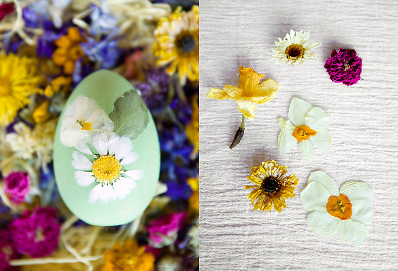 How-To: Pressed Flower Easter Eggs