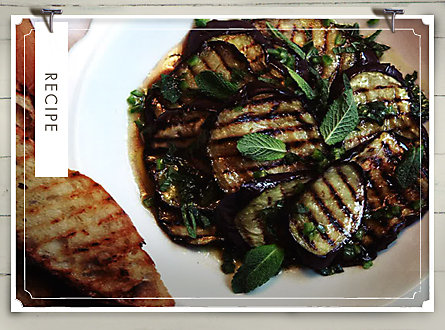 Recipe of the Week: Bruschetta with Marinated Eggplant and Mint