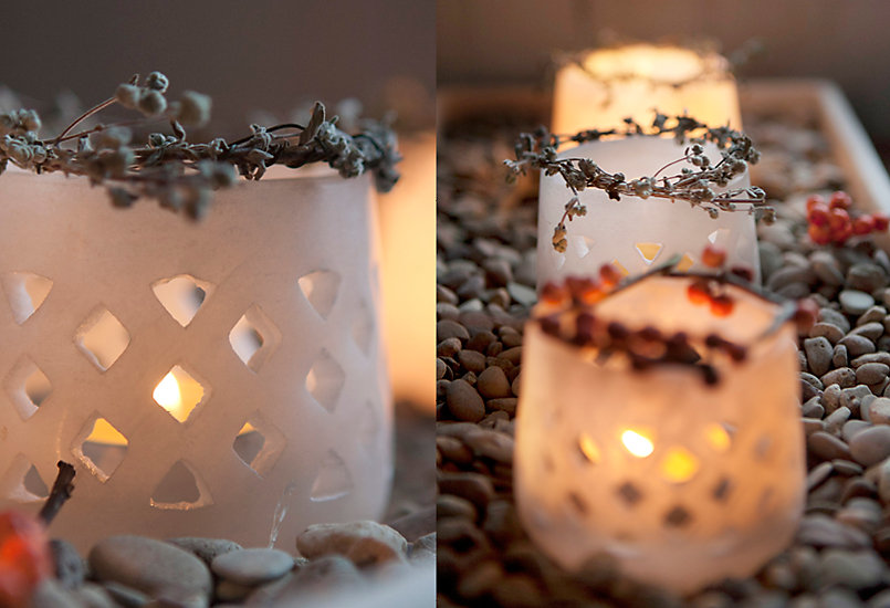 How-To: Fresh Cut Votive Crowns