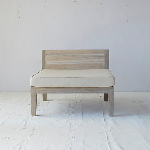 Slatted Teak Chair + Outdoor Cushion