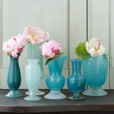 Frosted Blue Vase Collection