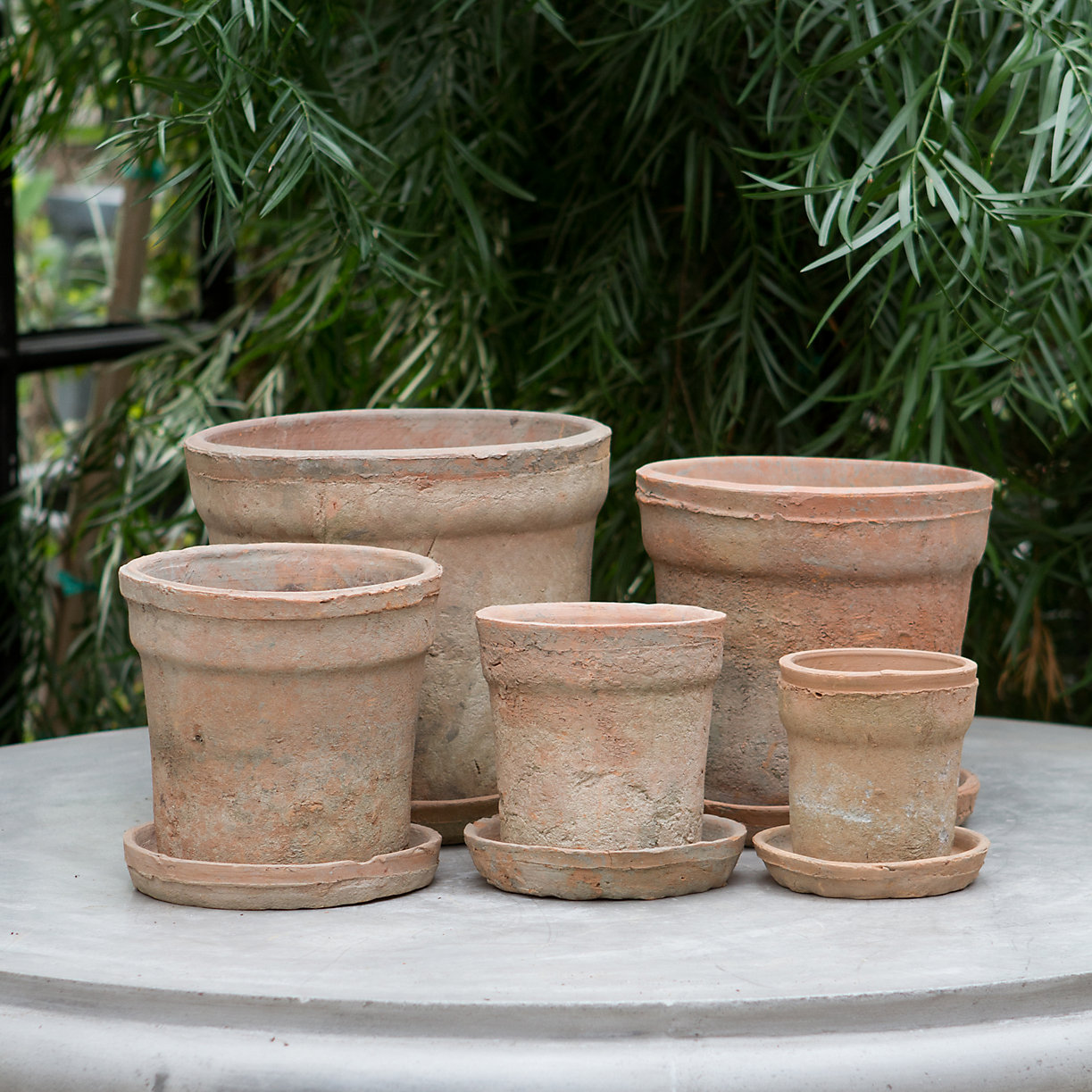 Earth Fired Clay Wide Rim Pot, Terracotta OLD