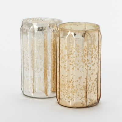 Mercury Glass Tall Candle