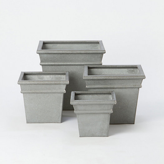 Zinc Frame Edge Planter