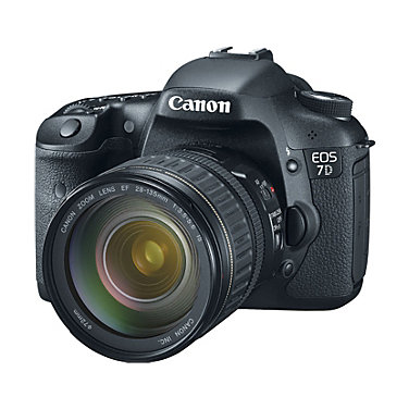 Canon EOS 7D with lens