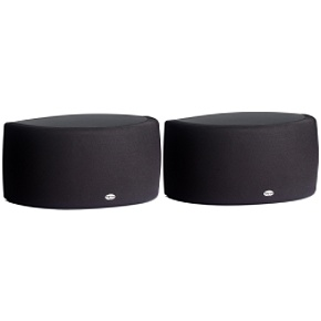 2-way black Synergy Series surround speaker pair