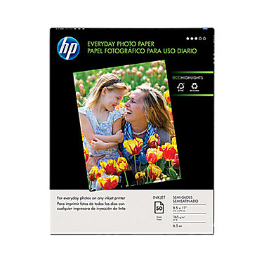 HP 8.5 x 11 Everyday Photo Paper