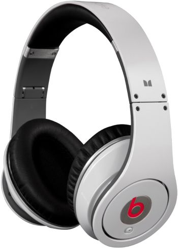 Monster Cable White On-ear Beats by Dr. Dre studio high definition headphones
