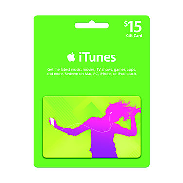 Apple $15 iTunes Gift Card