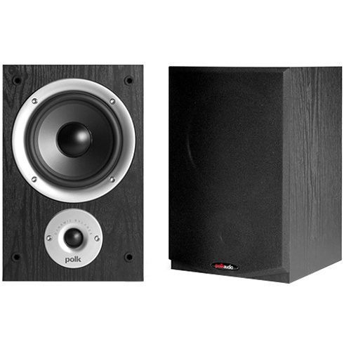 2-way black R Series bookshelf loudspeaker pair