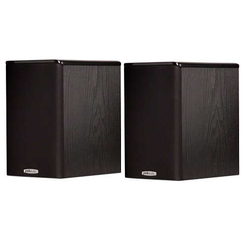 2-way black TSi Series bookshelf speaker pair