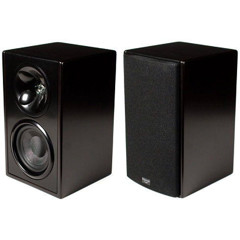 2-way espresso Icon W Series bookshelf speaker pair