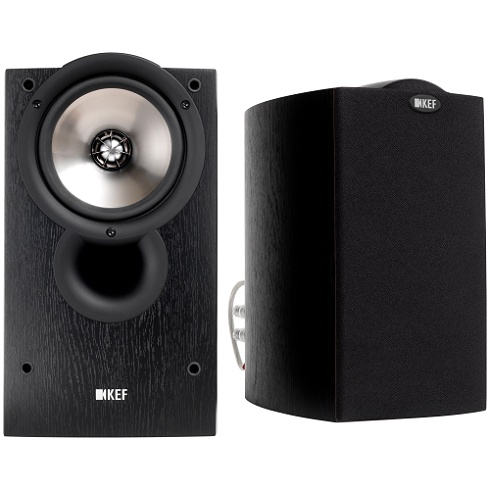 2-way black ash Q series bookshelf speaker pair