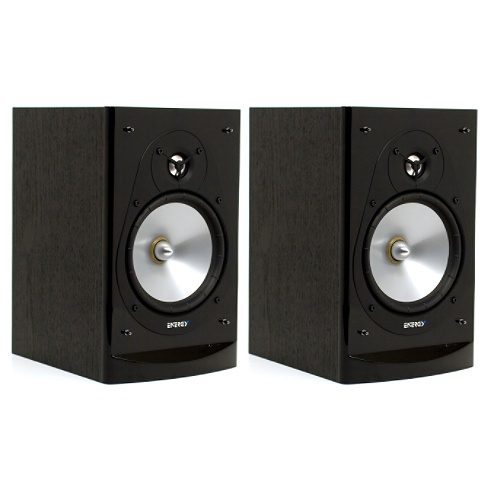 2-way black C-Series bookshelf speaker pair