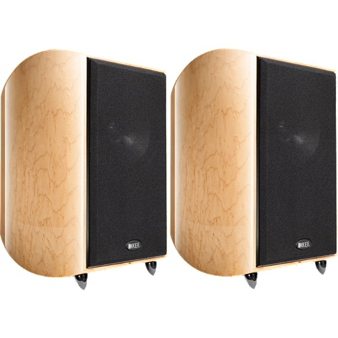 2-way birdseye-maple XQ Series bookshelf speaker pair