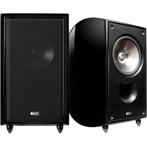 2-way gloss-black XQ Series bookshelf speaker pair