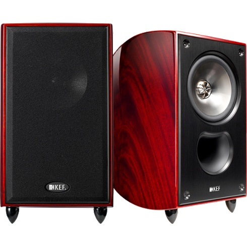 2-way khaya-mahogany XQ Series bookshelf speaker pair