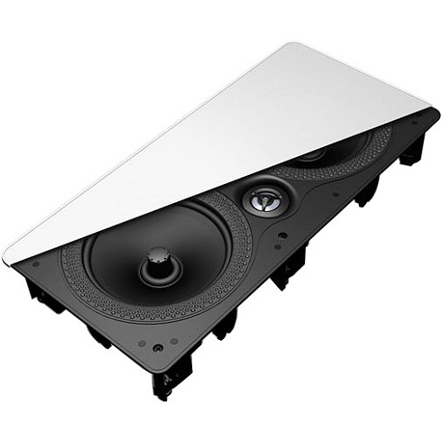 2-way single in-wall LCR home theater speaker