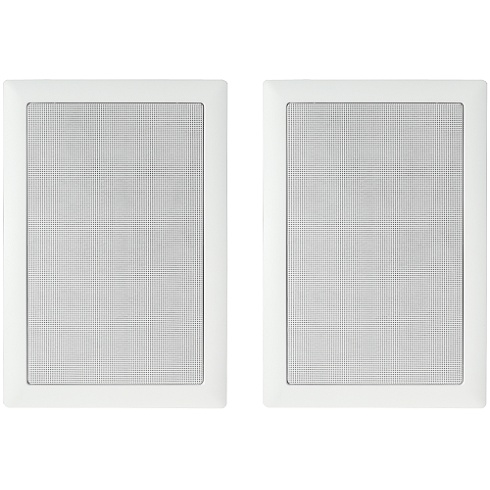 2-way white in-wall speaker pair
