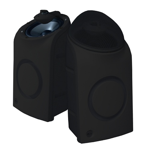 2-Way Black Oasis Series Indoor/Outdoor Speaker Pair