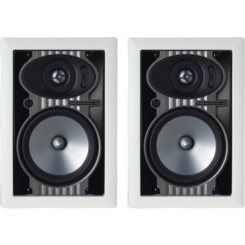2-way in-wall speaker pair