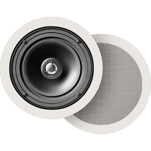 2-way white pair of in-wall speakers