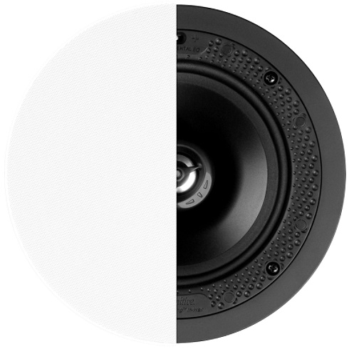 2-way single white in-ceiling speaker