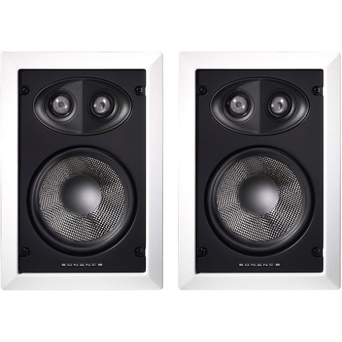 2-way white Cinema Select THX in-wall speaker pair