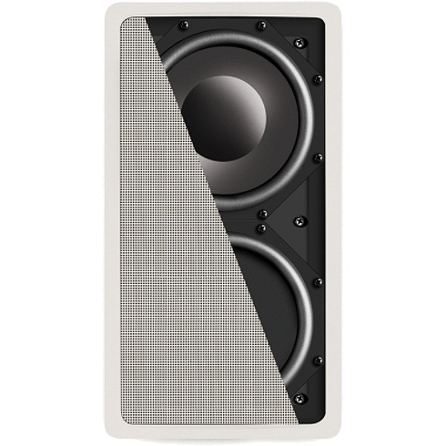 13 white in-wall subwoofer