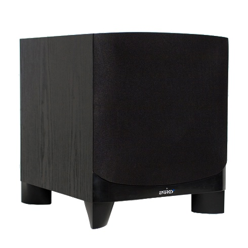 10 black 150W powered subwoofer