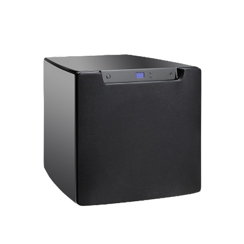 10 black 1200W powered Optimum subwoofer