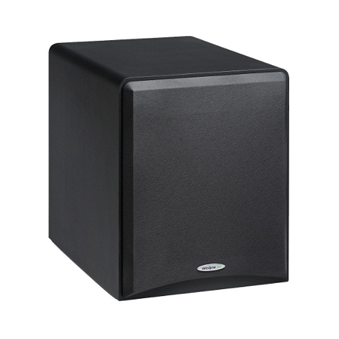 10 black 100W powered subwoofer