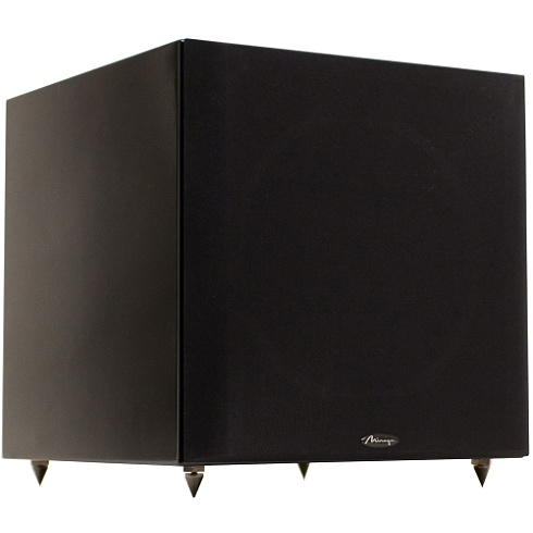 10 black 300W powered subwoofer