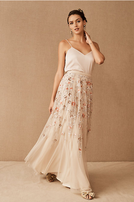 Catherine Deane Mia Cami & BHLDN Colline Skirt