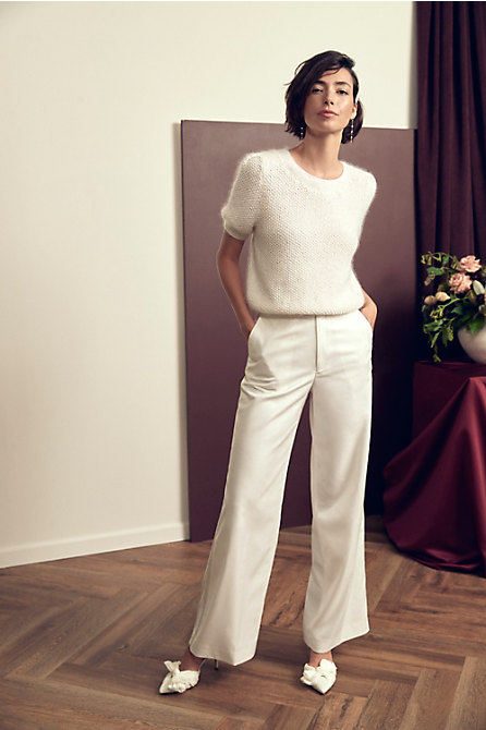 marryandbride Together Forever Sweater & The Tailory New York x BHLDN Joanie Suit Pant