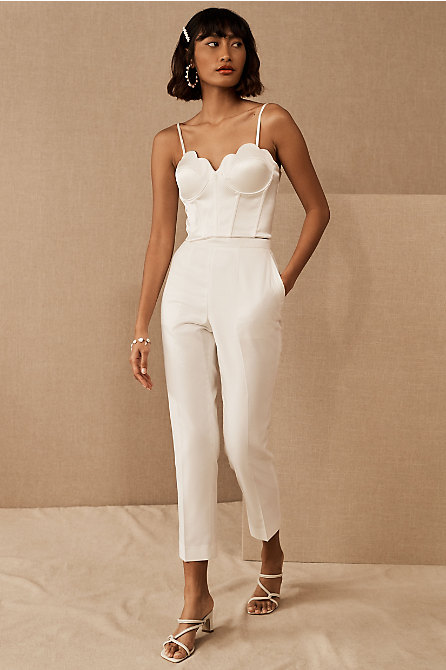 Catherine Deane Tahlita Top & The Tailory New York x BHLDN Westlake Suit Pant