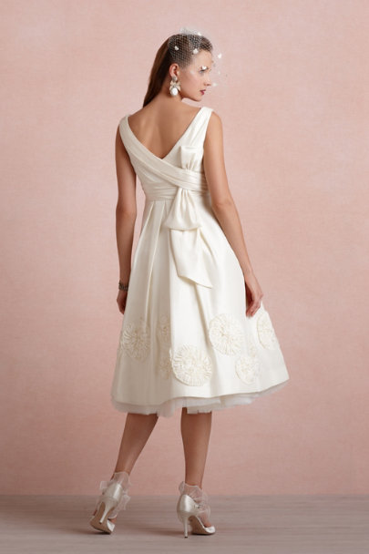 Buttercream Pinwheel Tea Dress | BHLDN