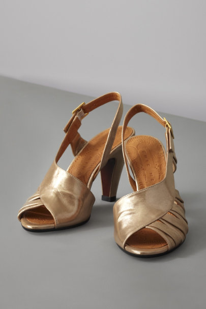 chie mhiara Gold Wrapped Aureate Heels | BHLDN