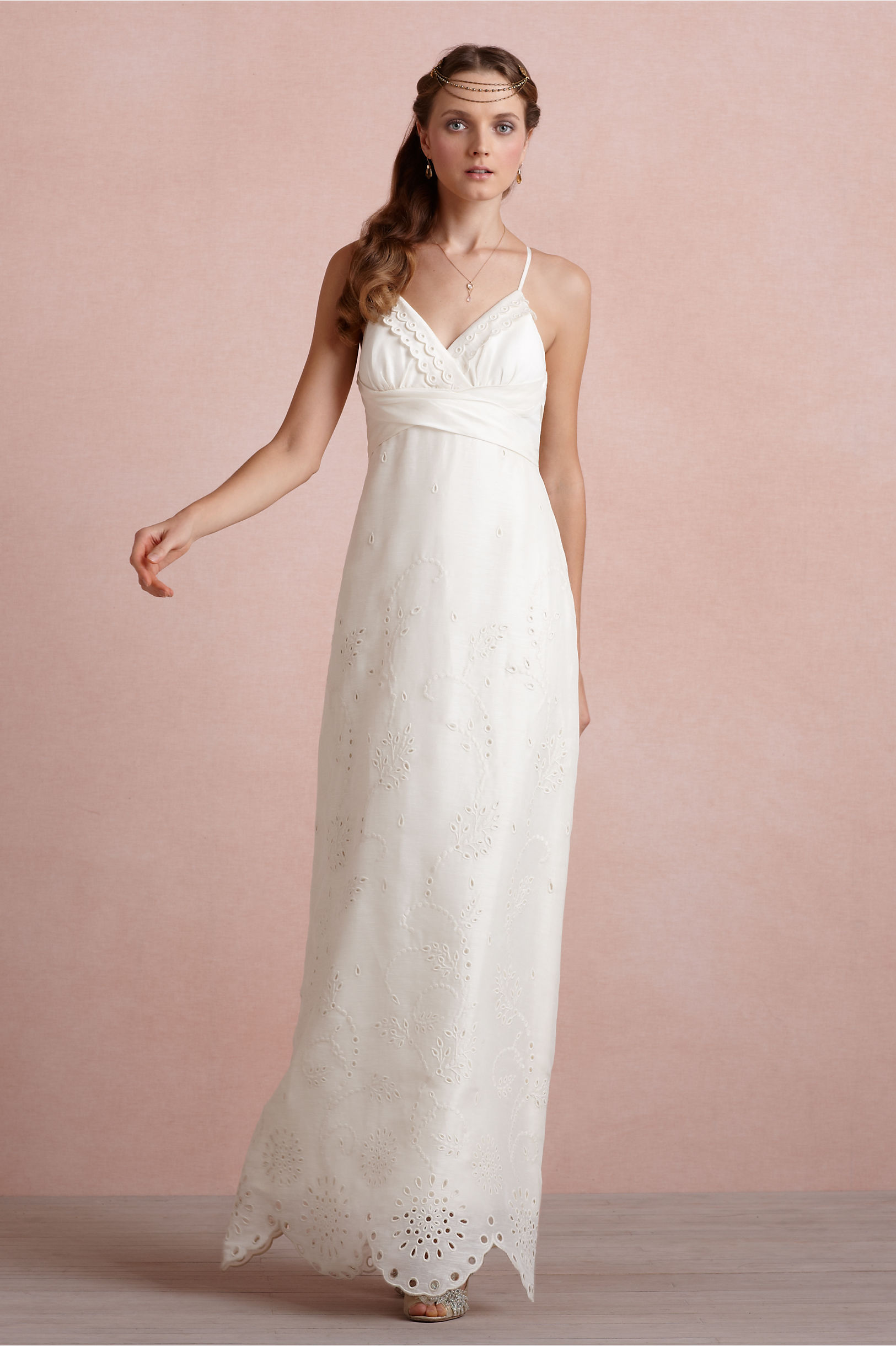 Eyelet Medley Sheath in Bride | BHLDN