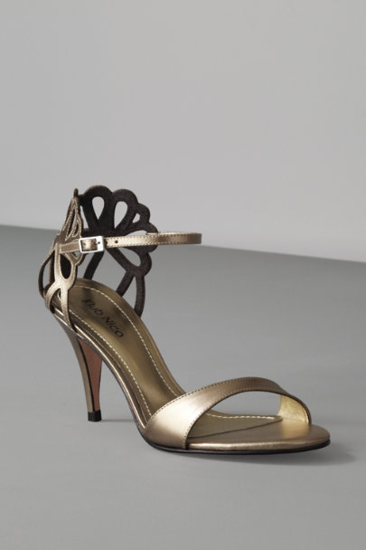 KLUB NICO Bronze Clipped Corolla Heels | BHLDN