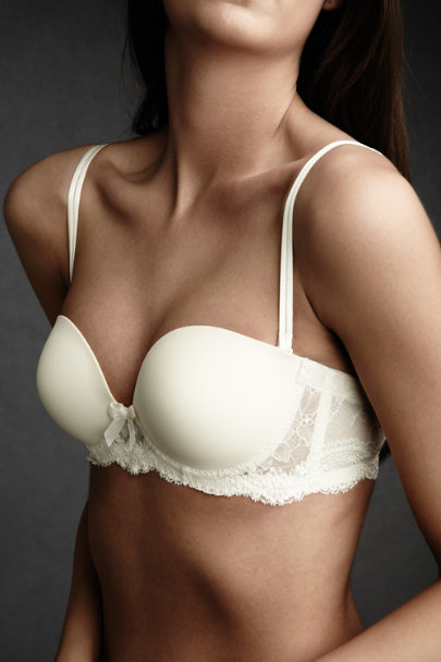 Ivory Sweetheart Strapless Bra | BHLDN